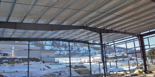 Retrofitted metal roofing. Image: Norsteel Buildings.